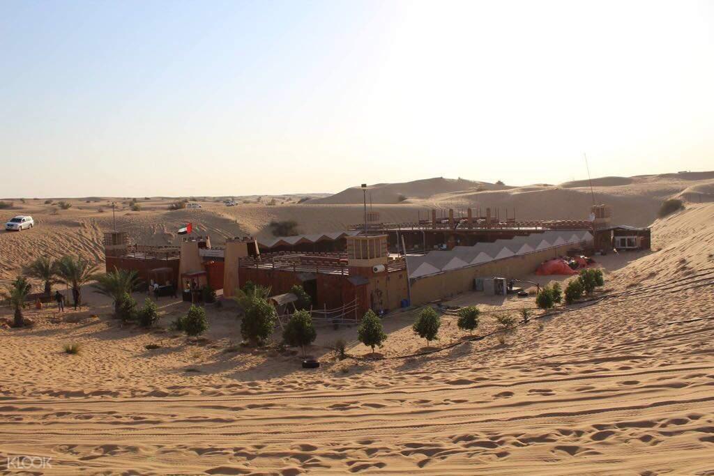 bedouin campsite during the evening desert safari